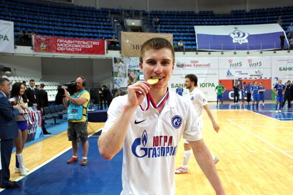 Иван Чишкала, нападающий МФК «Газпром-Югра», лучший игрок финального матча поверсии KNAUF