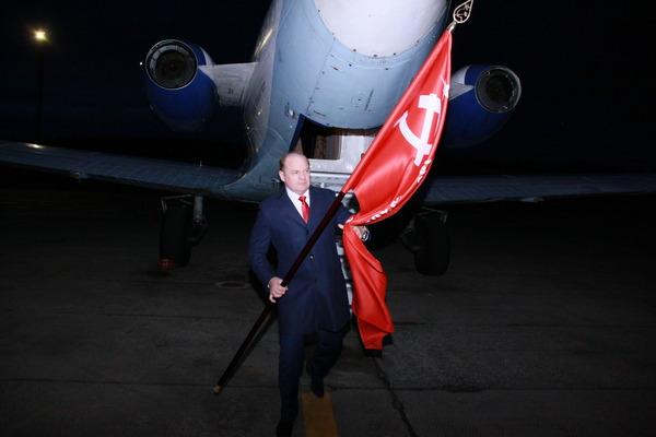 Знамя Победы доставлено вЮгорск