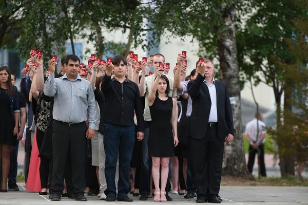 "Участники акции ""Свеча Памяти"""