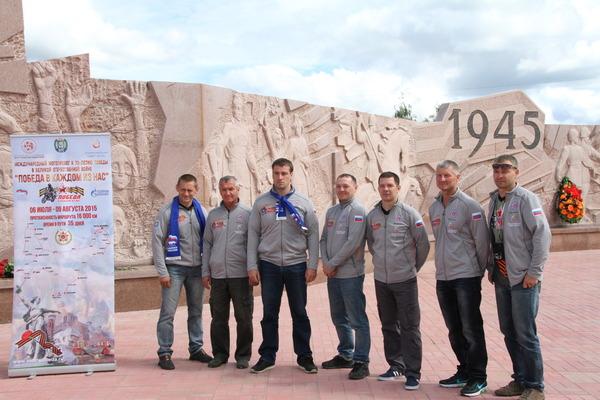 Участники мотопробега почтили память погибших вВеликой Отечественной войне